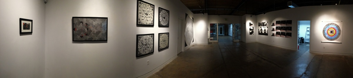 White Circle, Black Square, Silver Pentagon (panorama of exhibition)